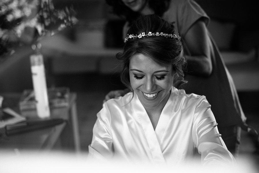 Fotografía en preparativos de la novia
