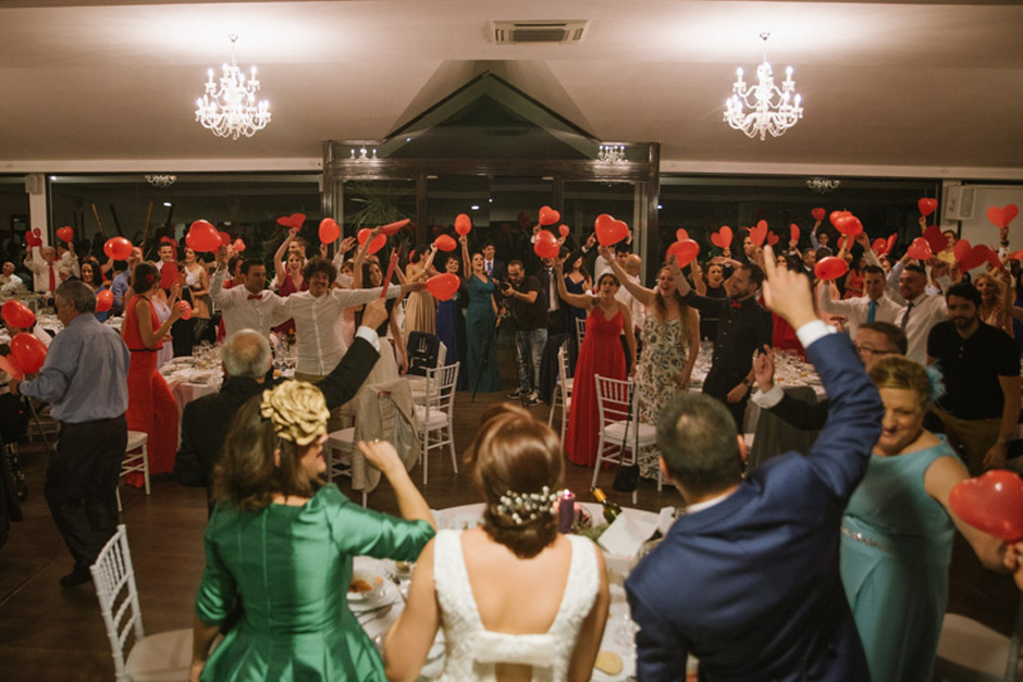 Fotografía de los Novios en el banquete