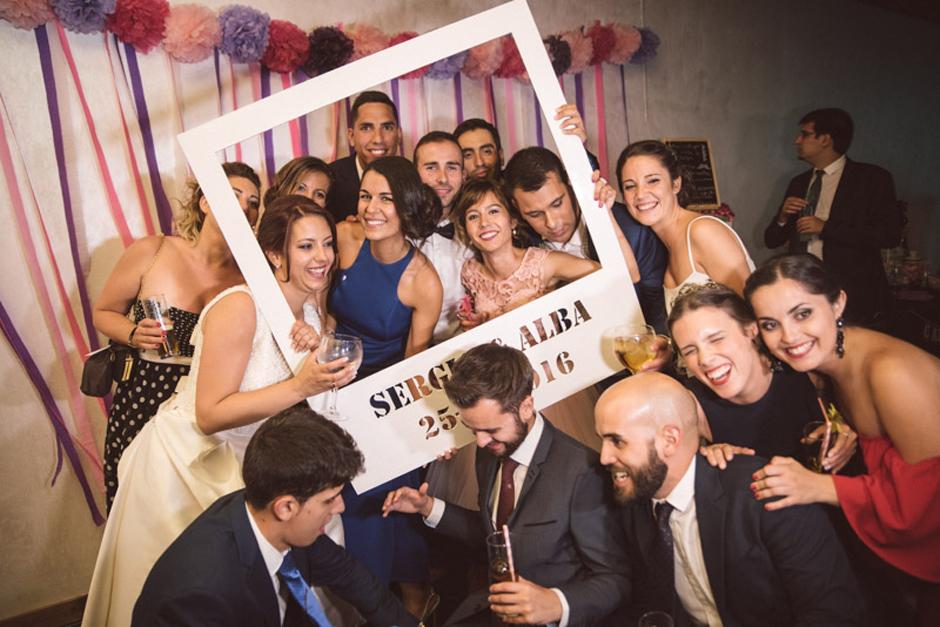 Fotografía de los Novios en la fiesta