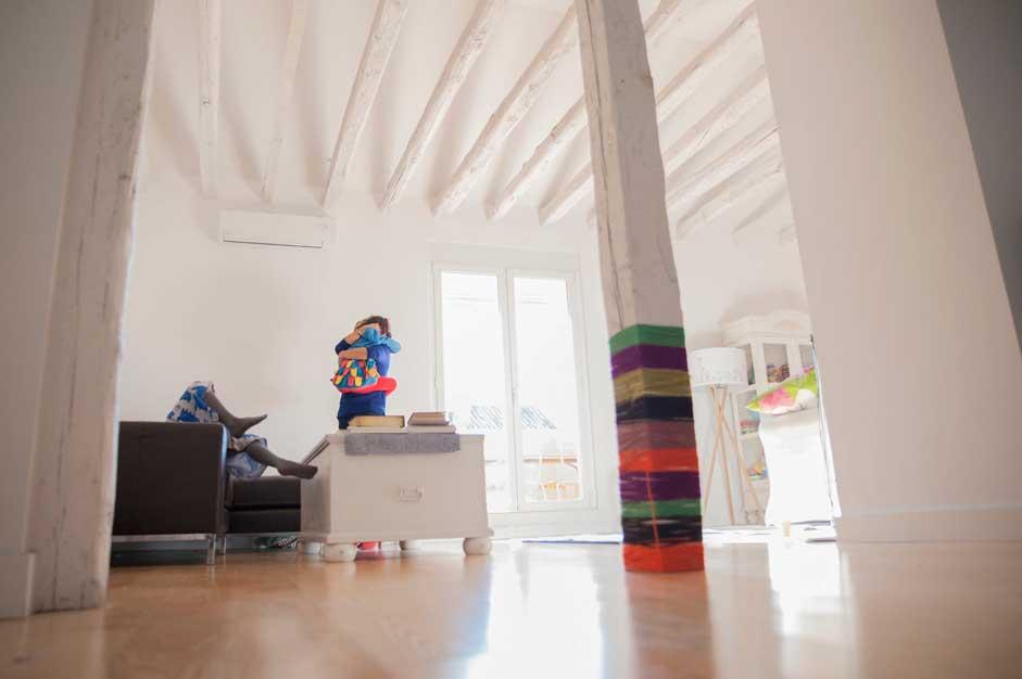 Fotografía de Familia en su casa